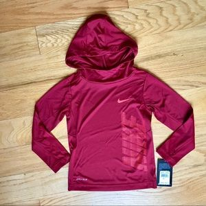 NWT Nike maroon hooded Long sleeve